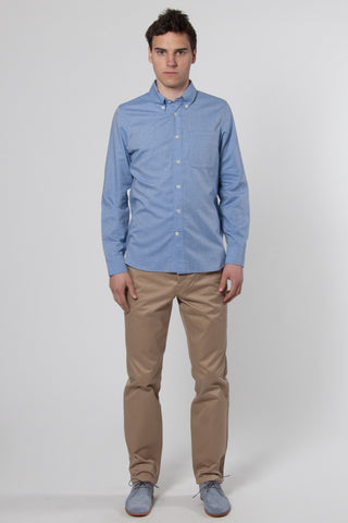 Button Down Shirt herringbone light blue