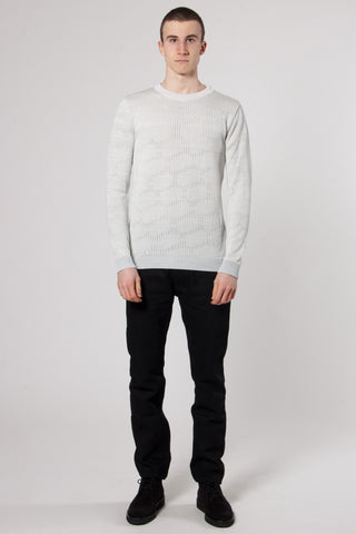 Raster Crew Neck clear grey