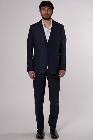 Relaxed Notch Blazer navy