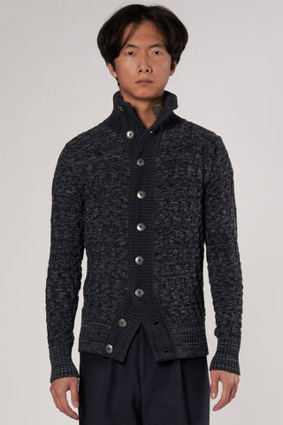 Stark Cardigan aviator grey blue blend
