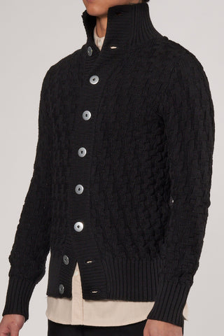 Stark Cardigan black void