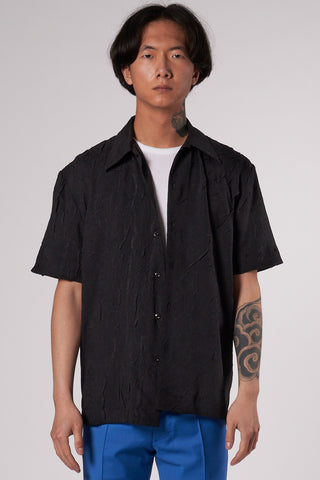 Suneham Shirt crackled black