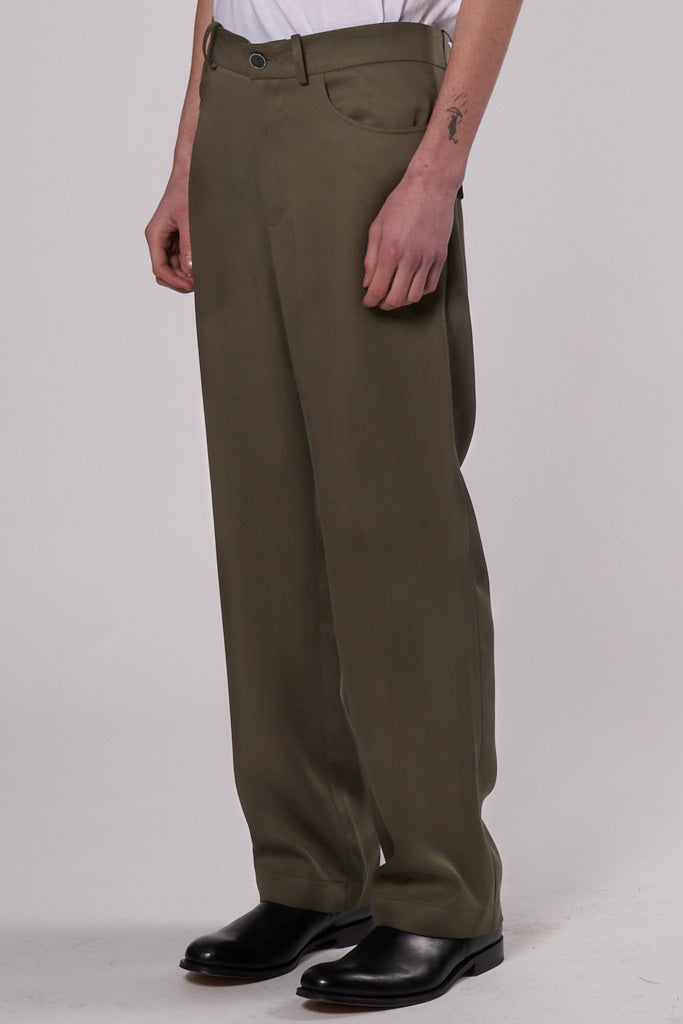 Theo Trousers olive tencel