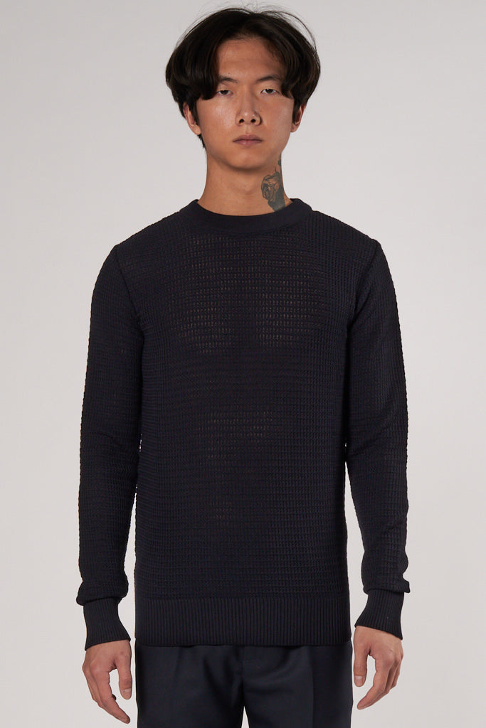 Transparent II Crew Neck dark navy
