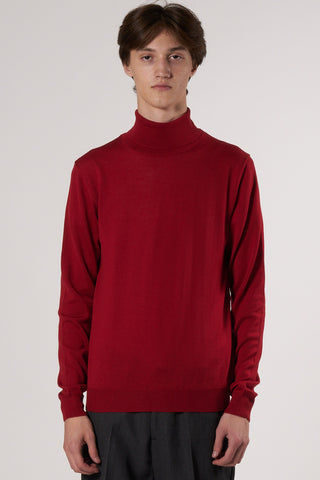 Thadée Turtleneck Sweater ruby