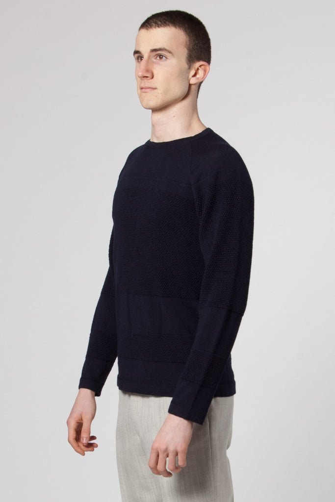 Ville Summer Bubbkle Knit navy