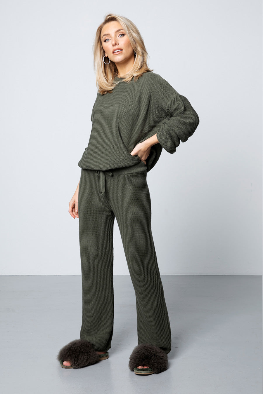Knitted Pants - Green