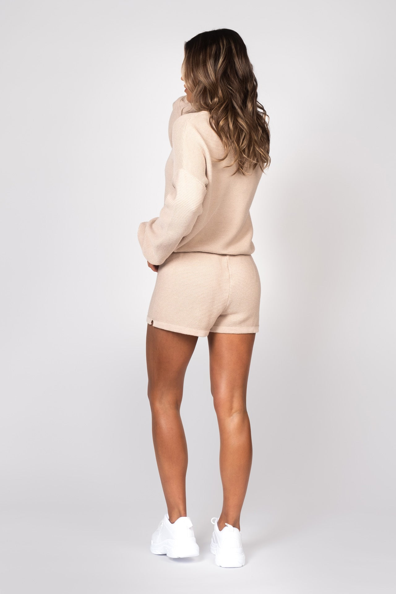 Knitted Shorts - Beige