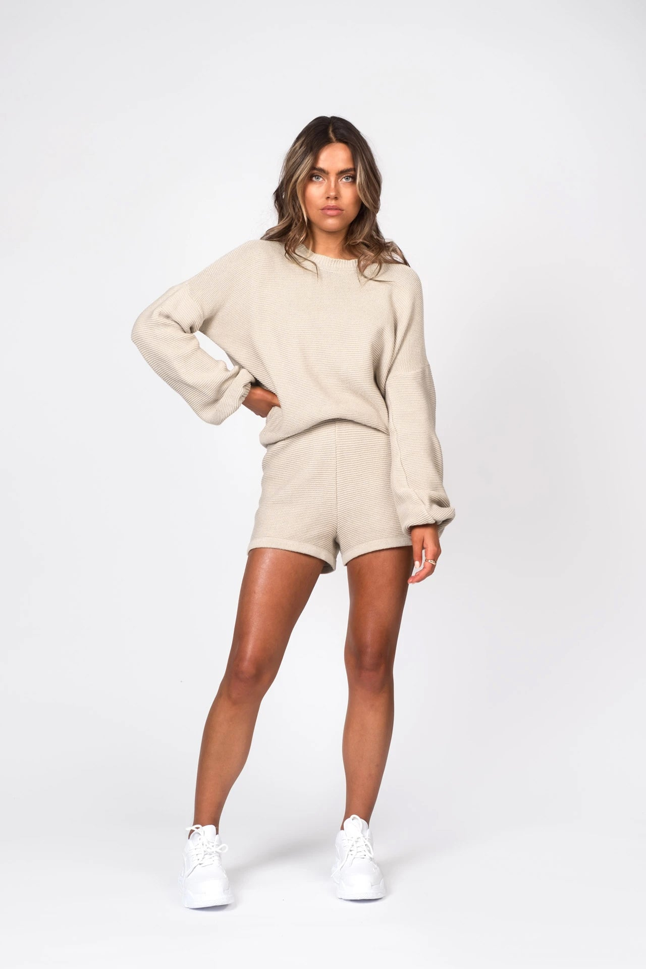 Knitted Sweater - Beige