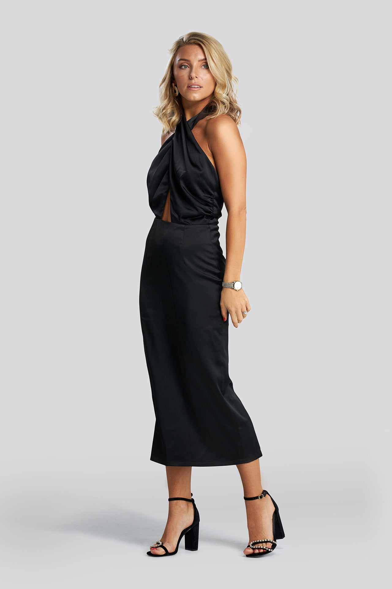 Black Tie Dress - Black