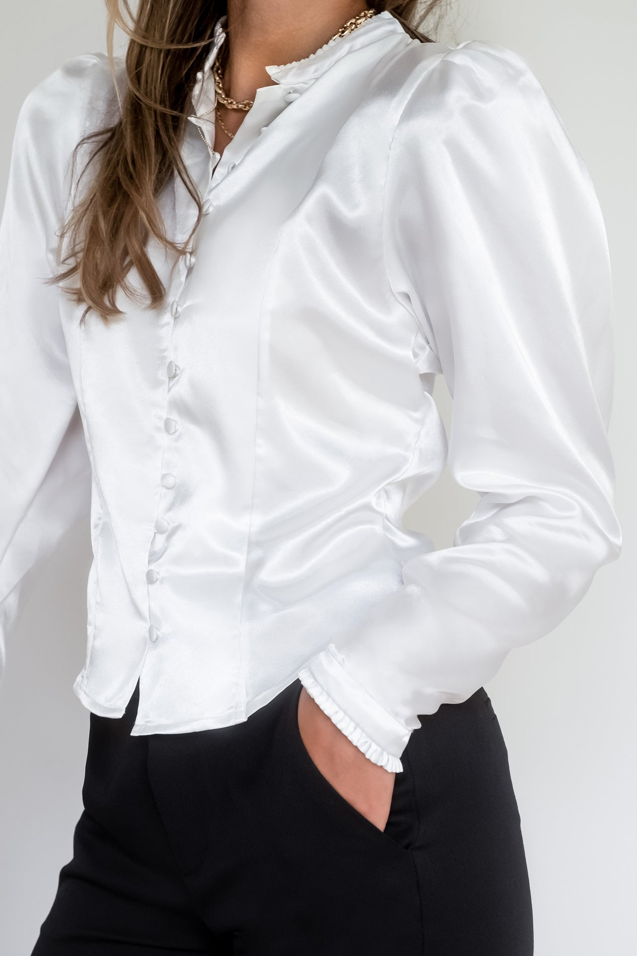 Satin Blouse - White
