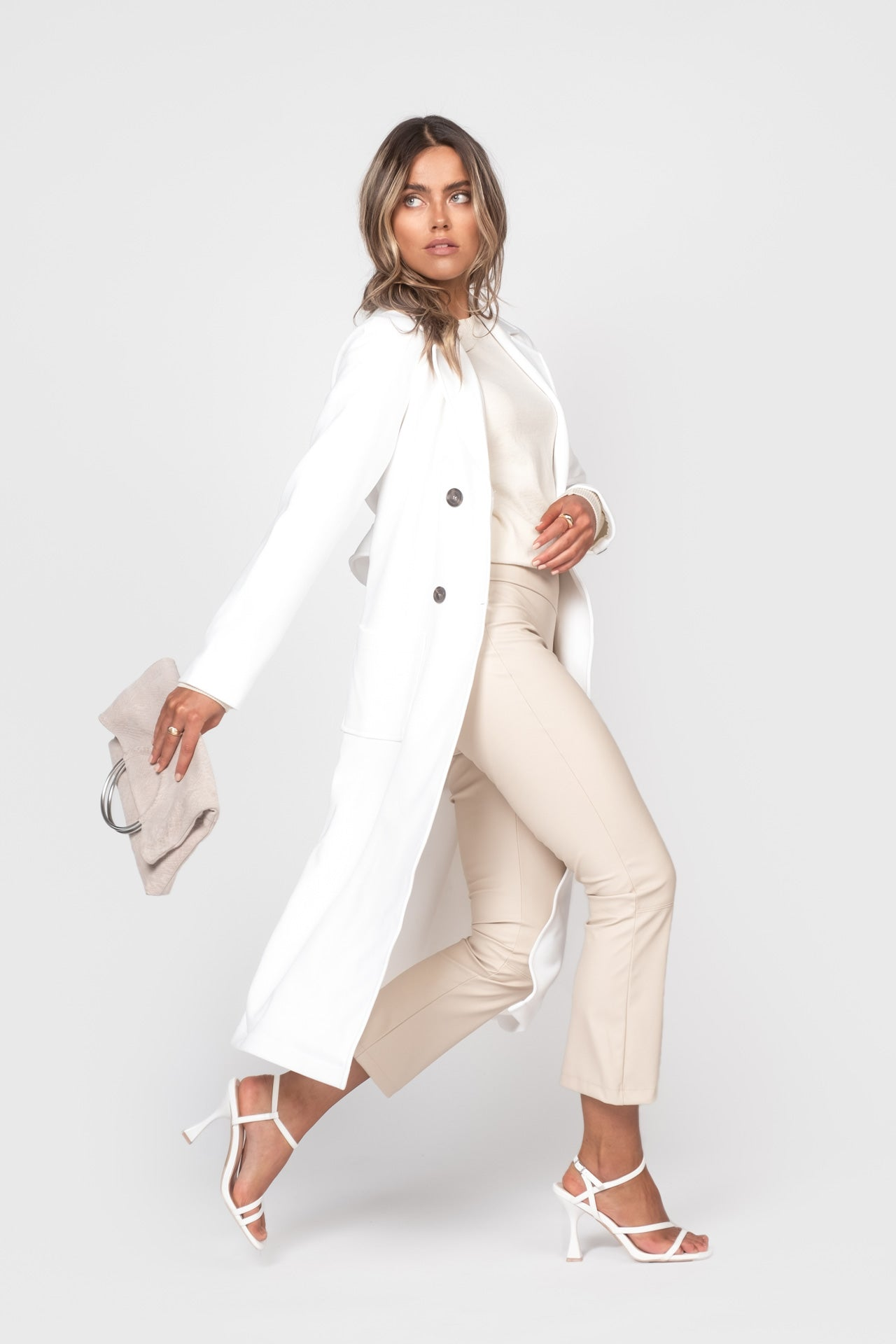 The Spring Coat - White