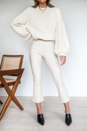 Thick Knitted Sweater - Off White