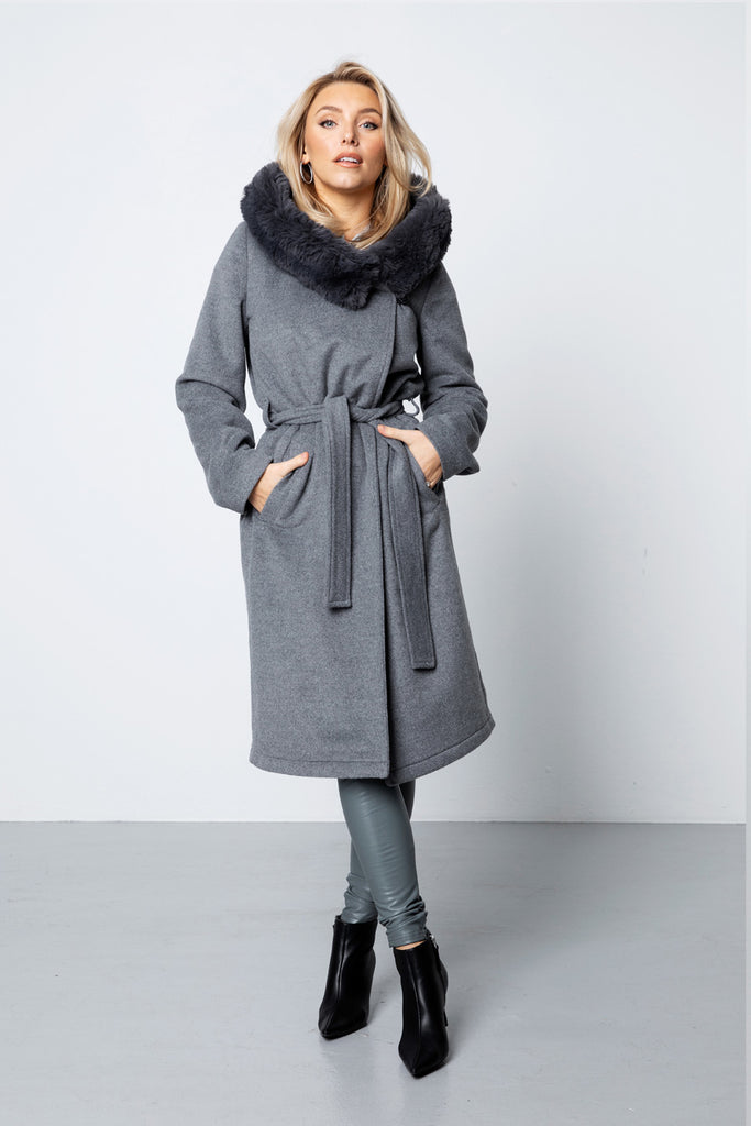 The Long Wool Coat - Grey