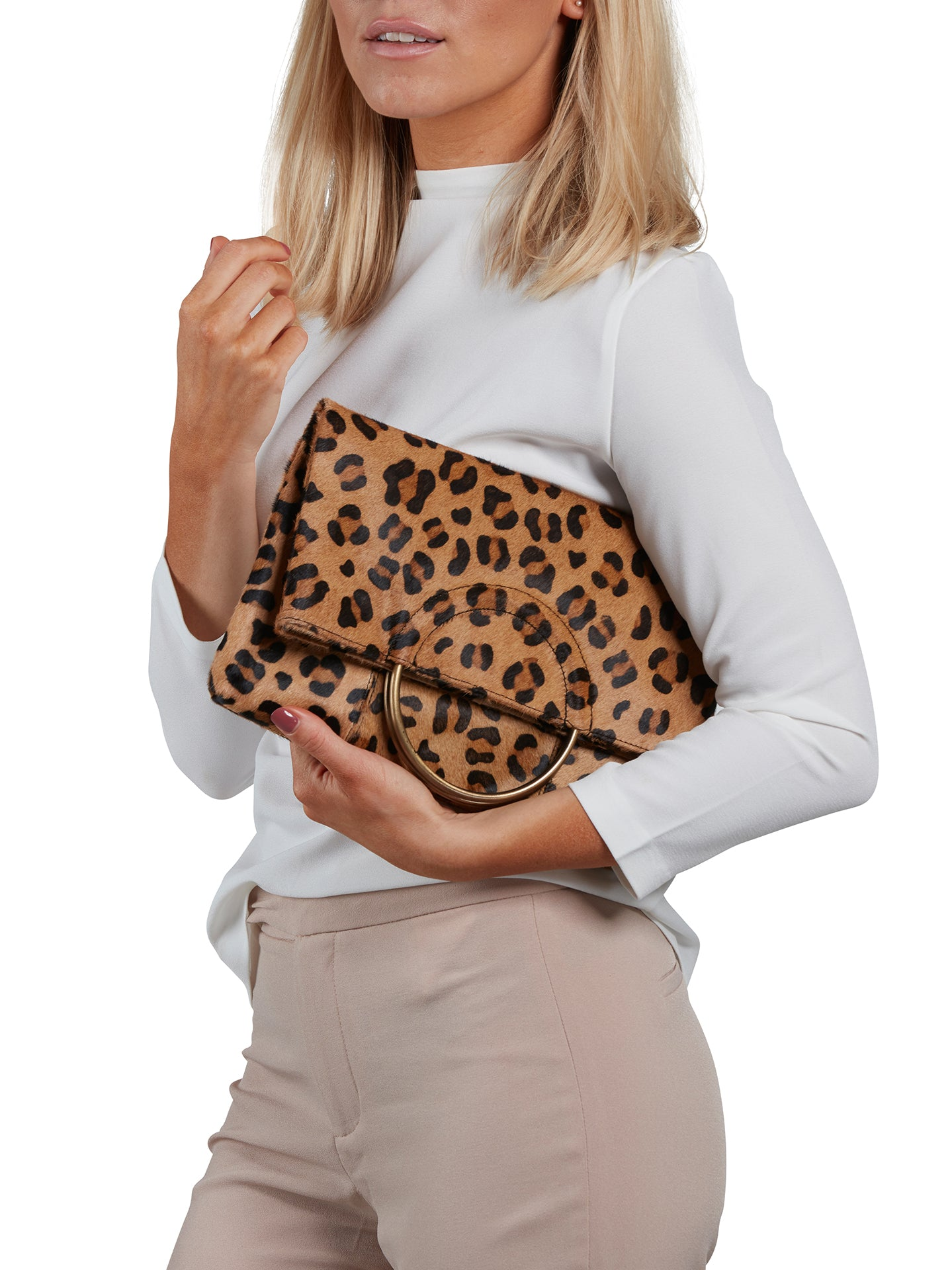 Leather Shoulder Bag - Leo