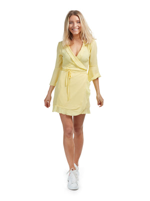 Wrap Dress - Lemon