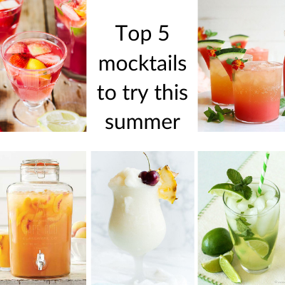 TOP 5 EASY MOCKTAILS TO TRY THIS SUMMER