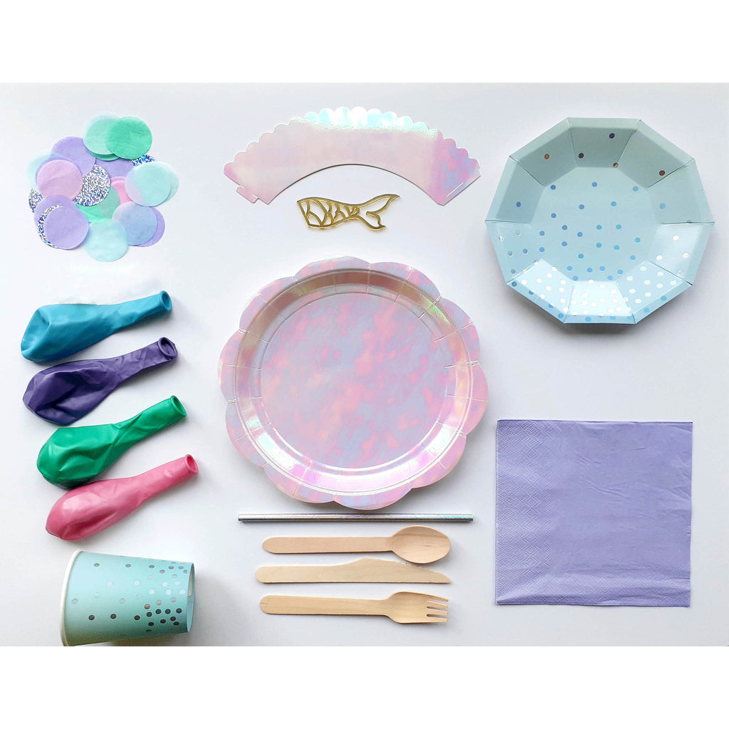 Mermaid Essential Party Pack - 10 people. - The Party Pack Co