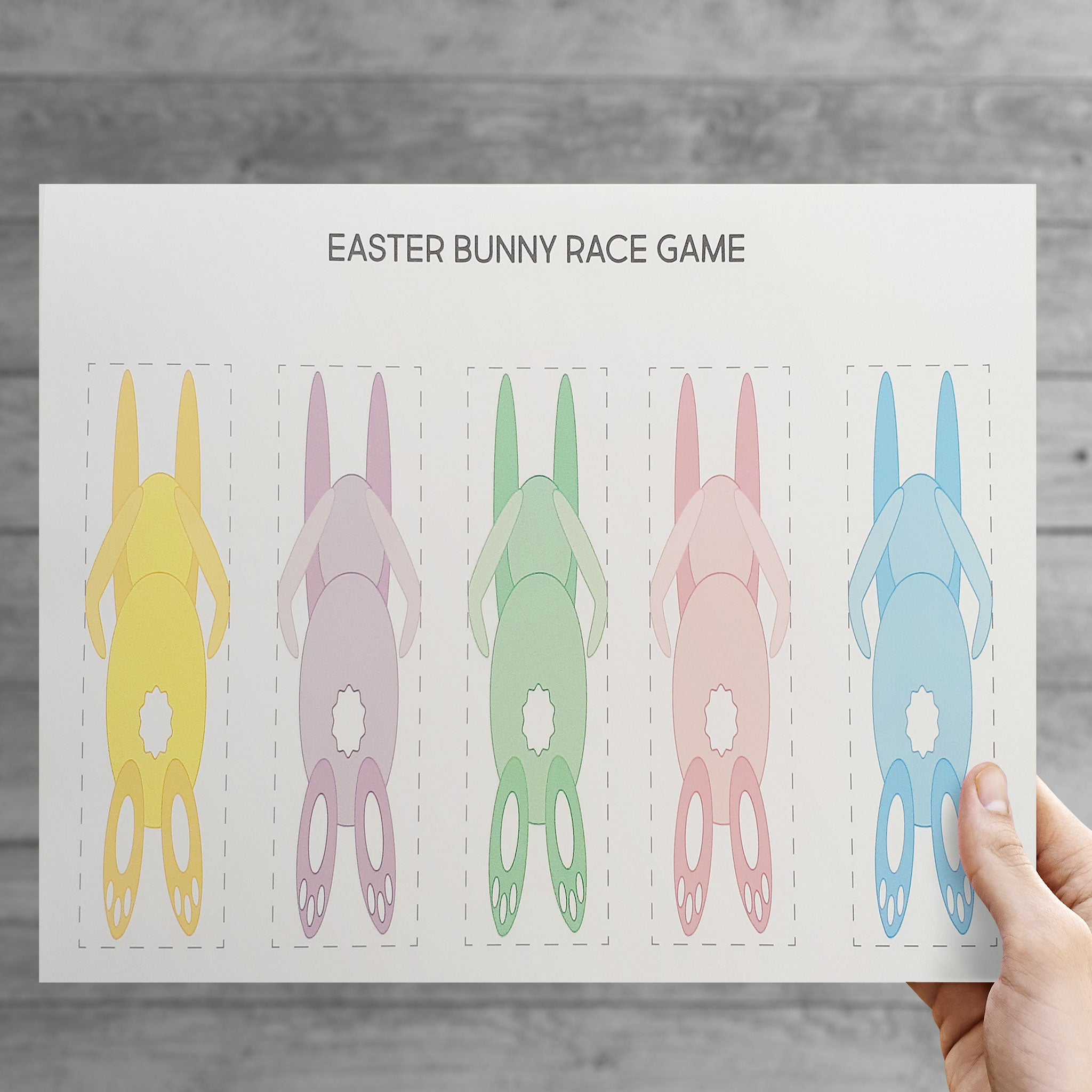 DIY Easter Bunny Racer Game - DIGITAL DOWNLOAD - The Party Pack Co