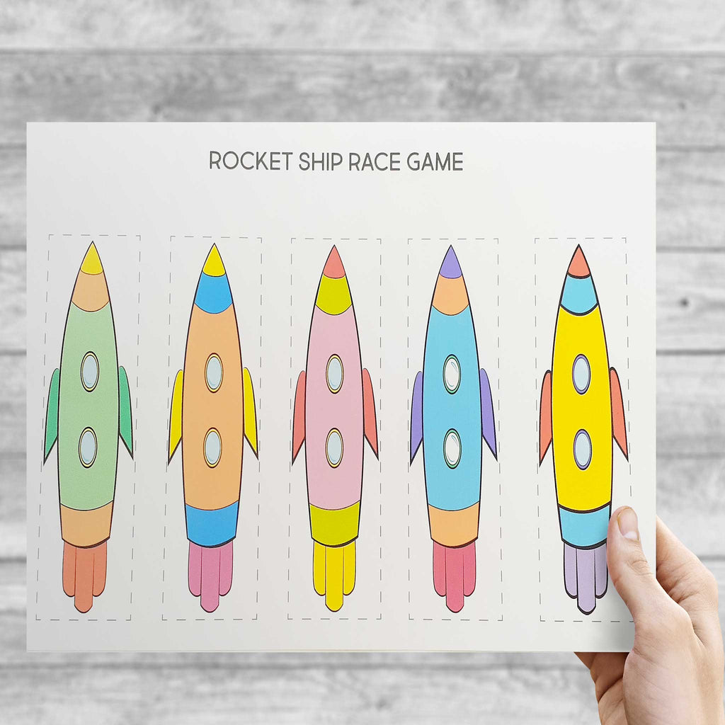 DIY Space Rocket Racer Game - Digital Download. - The Party Pack Co