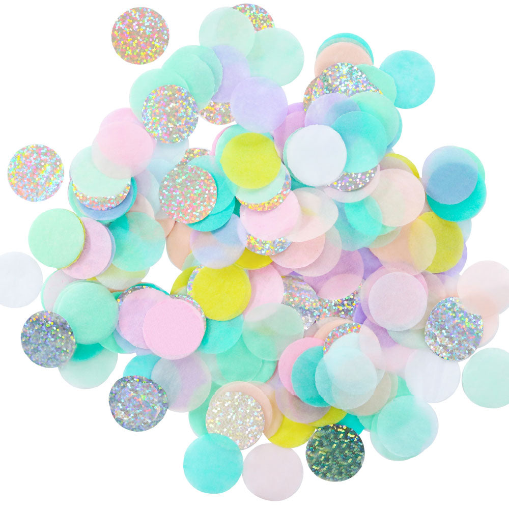 Confetti - Pastel and Iridescent rainbow - The Party Pack Co