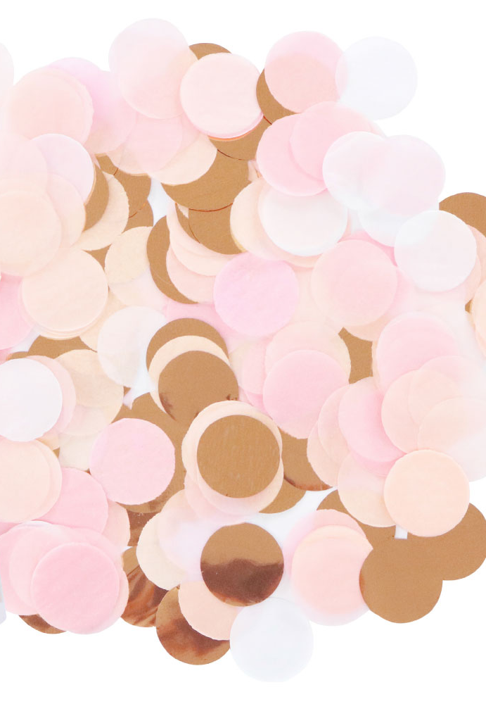 Rose Gold & Pink Confetti - The Party Pack Co