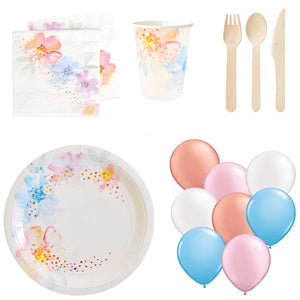 Mini Home Party Pack - Floral & Rose Gold Foil (up to 1- people) - The Party Pack Co
