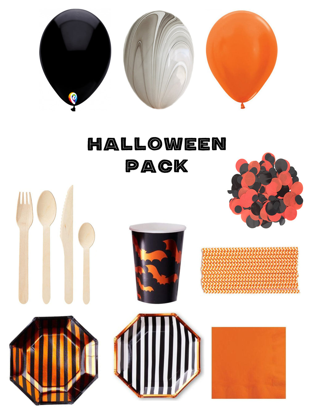 Halloween Party Pack 8 pack - The Party Pack Co