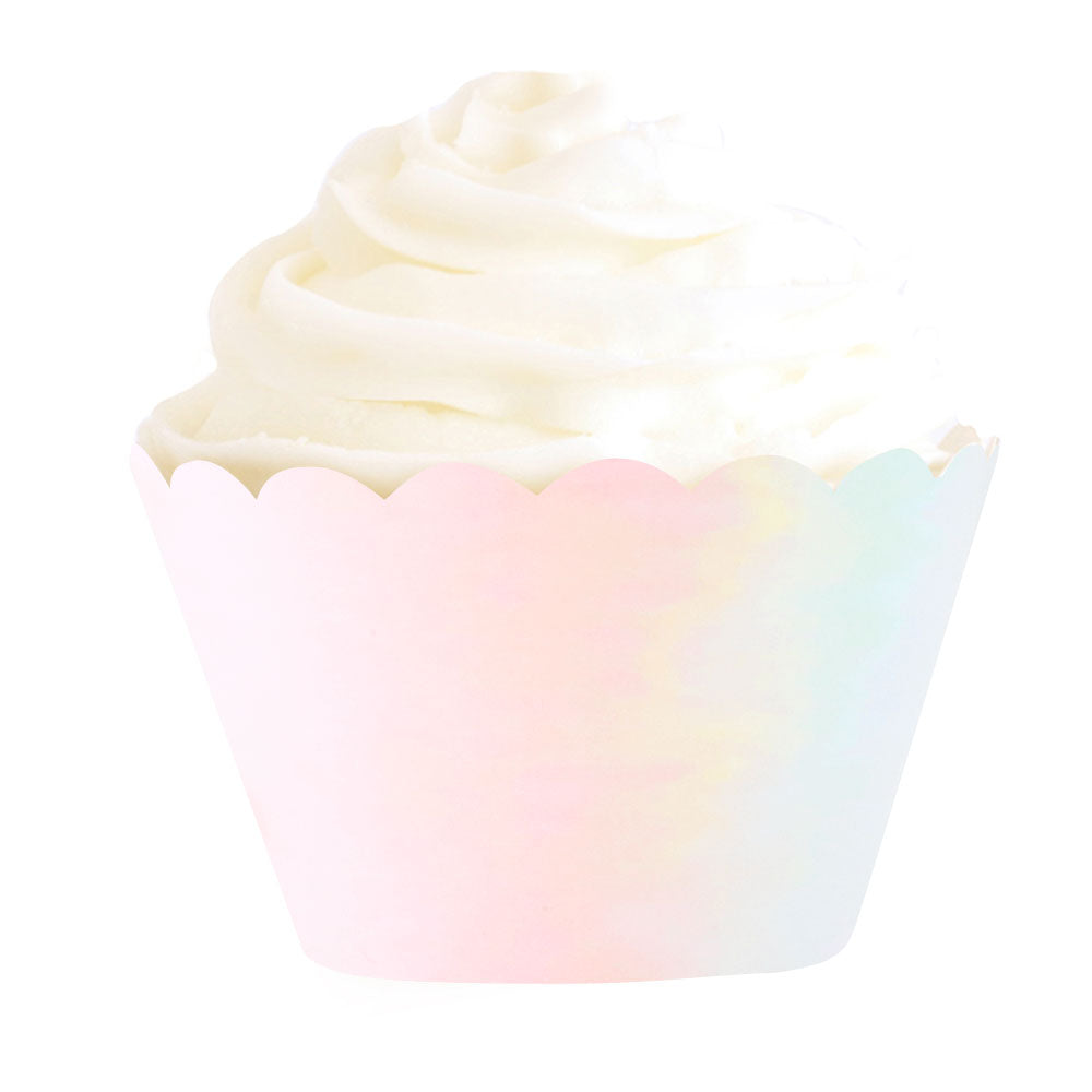 Iridescent Foil Cupcake Wrapper - 12 Pack - The Party Pack Co