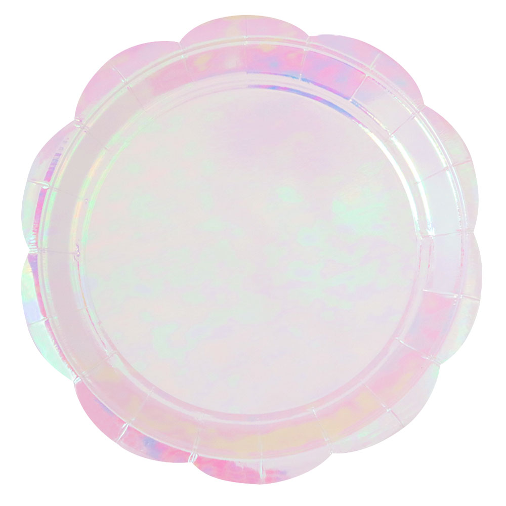 Iridescent Large Party Plate- 10 Pack - The Party Pack Co