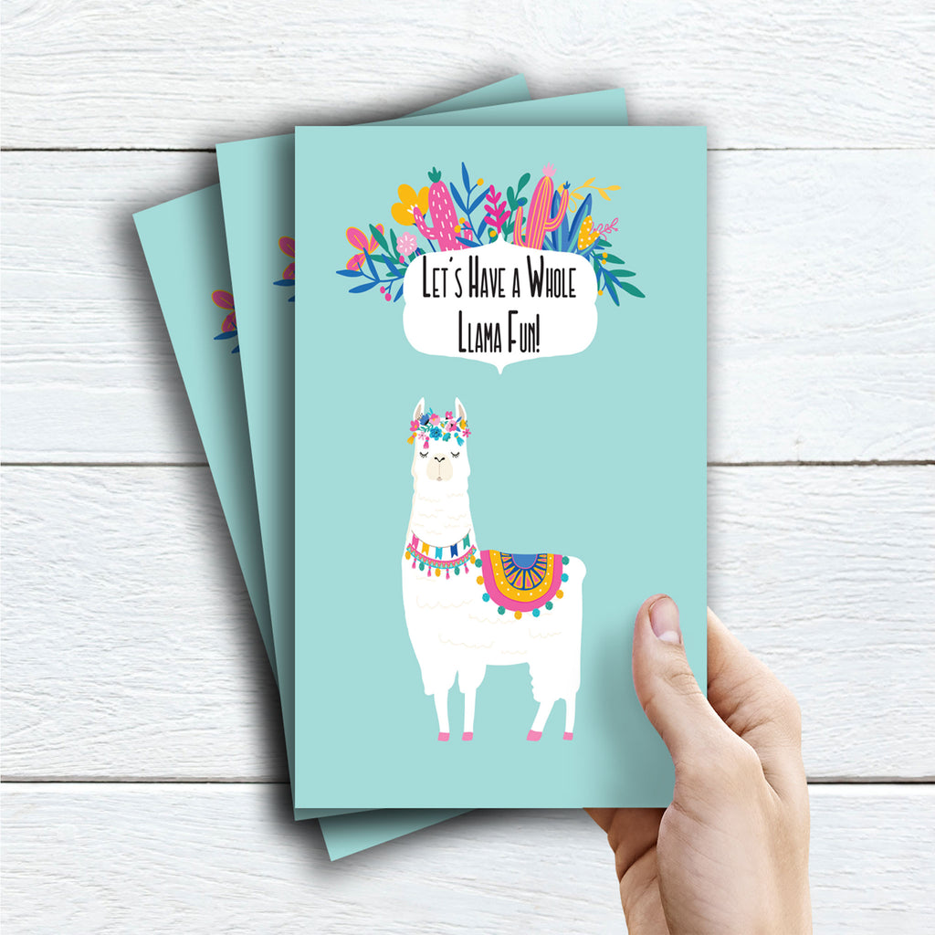 Llama Party Activity Booklet - Pack - The Party Pack Co