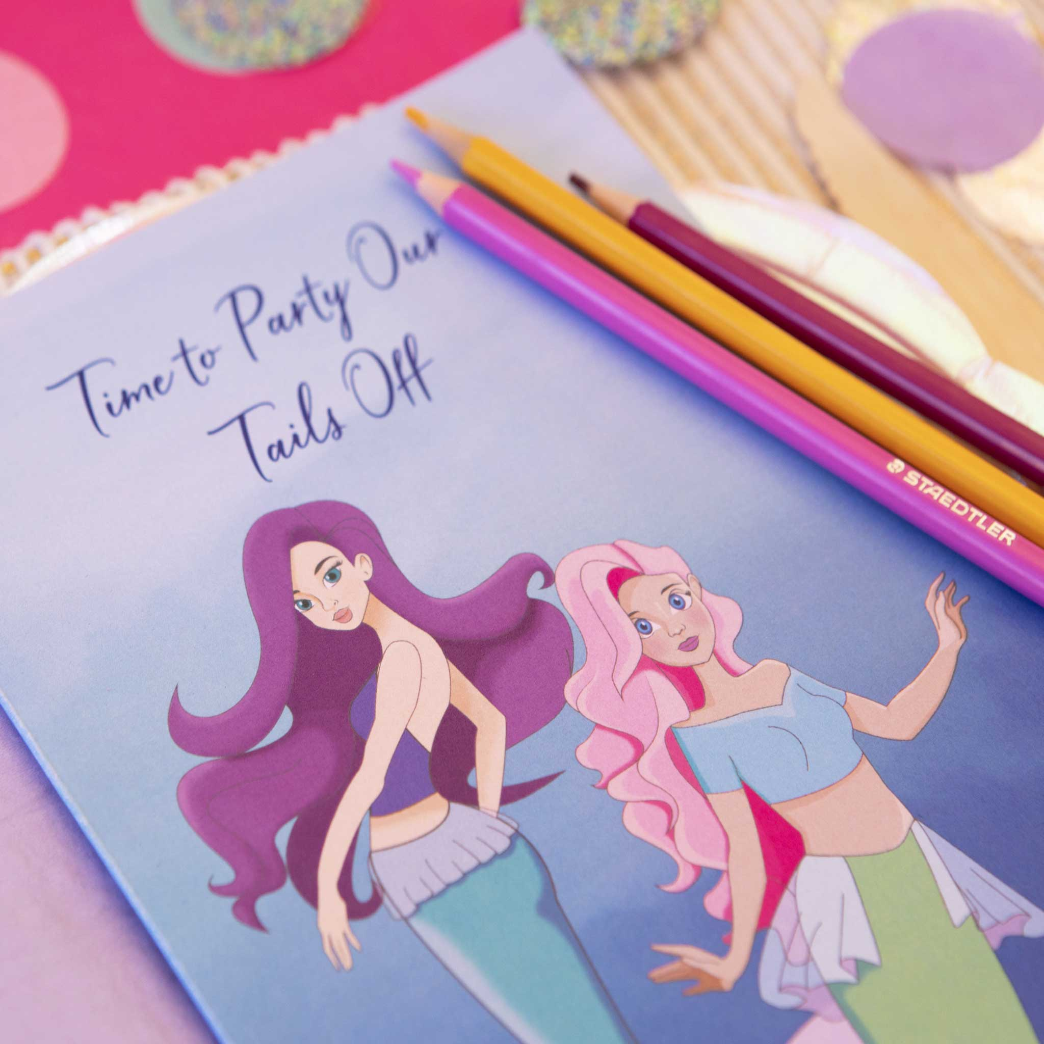 Mermaid Party Activity Booklet Bundle Pack - 10 people - The Party Pack Co