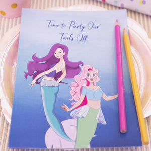 Mermaid Party Kids Activity Booklet - The Party Pack Co