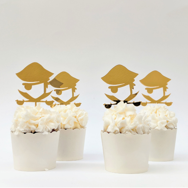 Pirate Cupcake Topper - The Party Pack Co