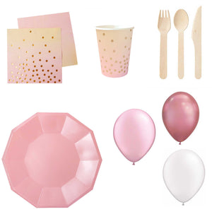 Mini Home Party Pack- Pink and Peach (up to 10 people) - The Party Pack Co