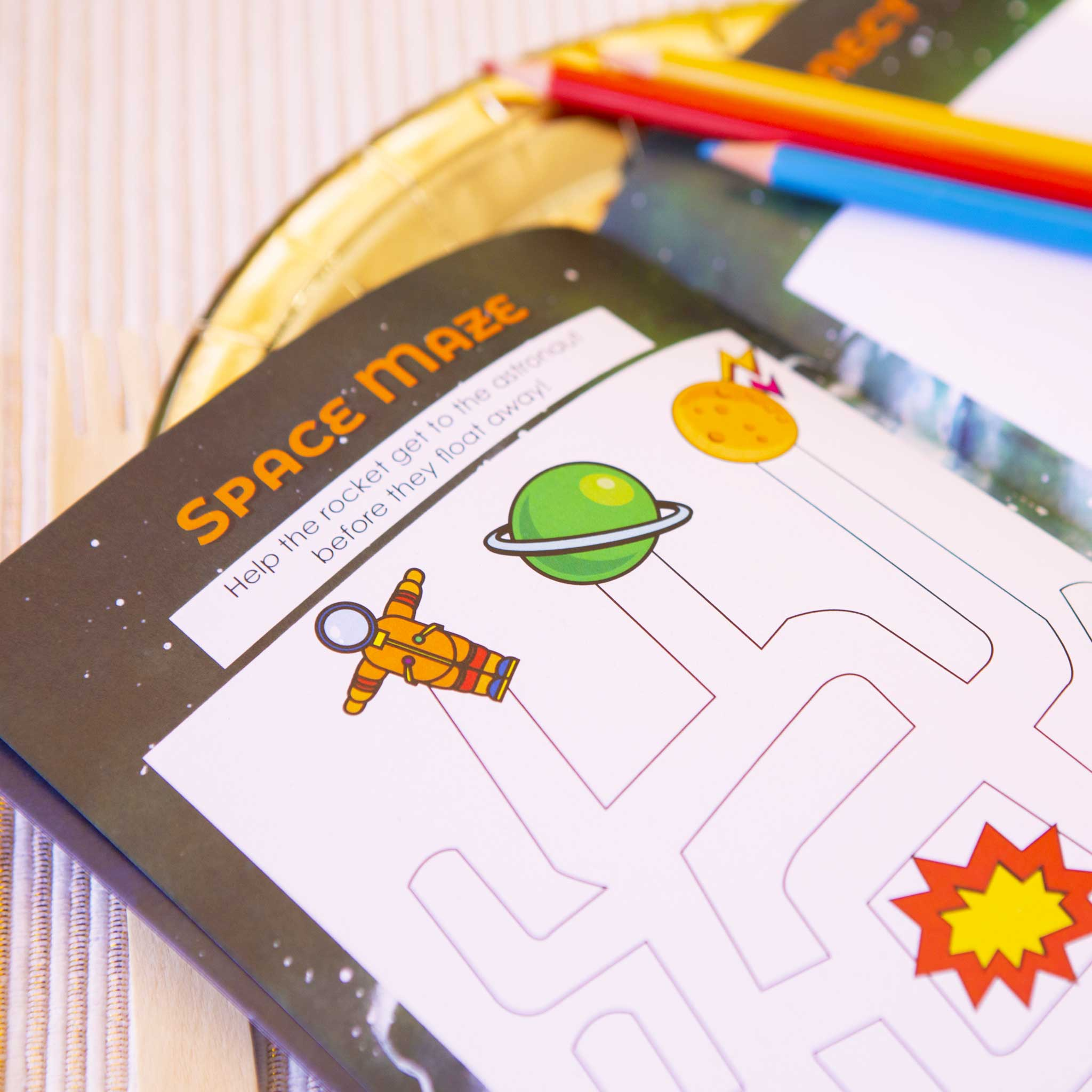 Space Party Activity Booklet - Pack - The Party Pack Co