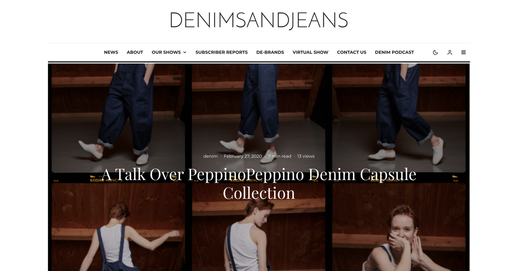 A Talk Over PeppinoPeppino Denim Capsule Collection