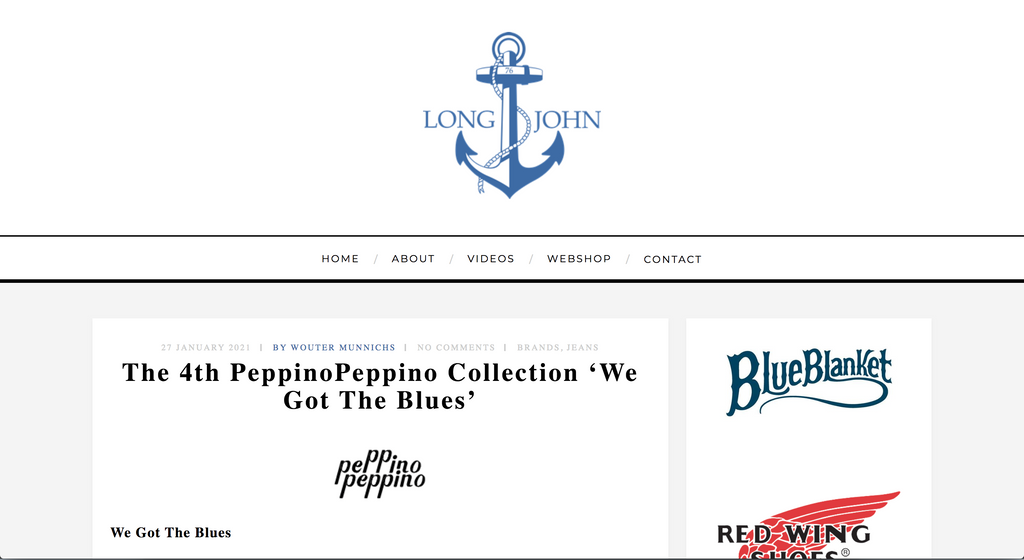 The 4th PeppinoPeppino Collection 'We Got The Blues'