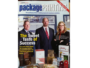 Cleveland-Based Tap Packaging Solutions Lands the Cover of Package Printing Magazine for its Success in Digitally Printed Packaging