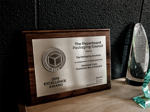 Tap Recognized For Printing Excellence