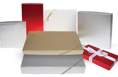 2 piece multicolored holiday setup boxes