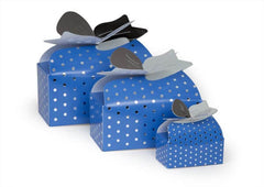 blue pin dot ribbon top boxes