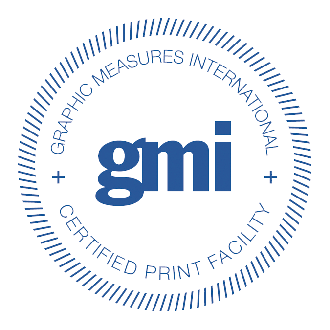 Graphic Measures International (GMI) Certified Print Facility Badge