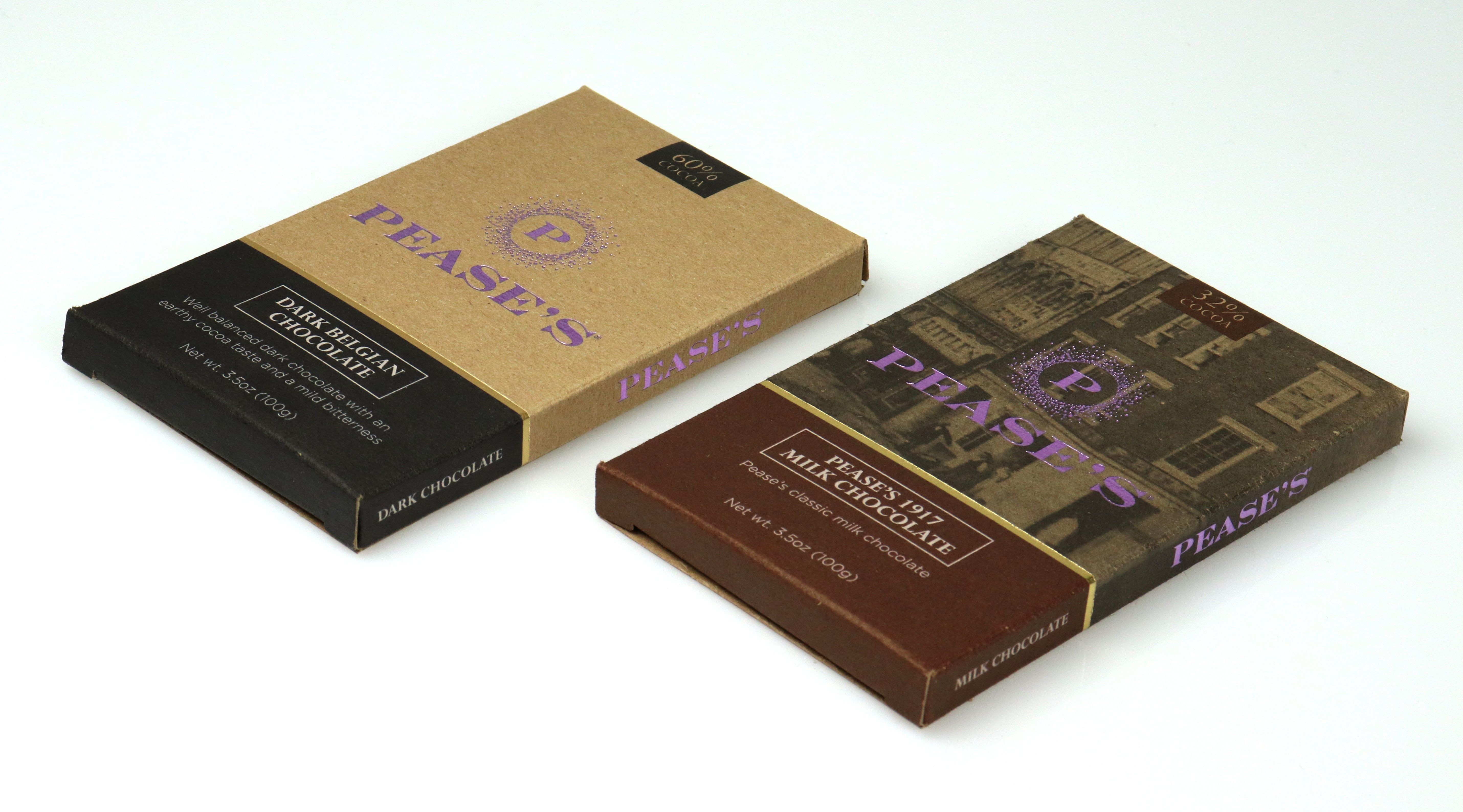 custom folding carton with foil and embossing for chocolate bar