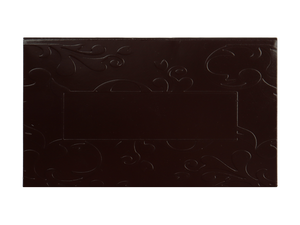 top of 2 piece brown embossed truffle slide lid