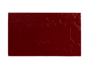 top of 2 piece maroon embossed truffle slide