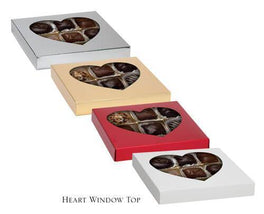Two-Piece Folding Candy Box Lid with Heart Window (16pc)