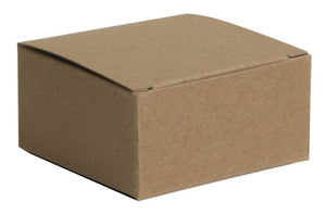 side view of kraft 4 piece favor box
