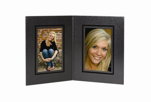 Presidential Photo Folder 2-Panel - 4 x 6 (Black/Black)