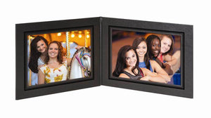 Presidential Photo Folder 2-Panel - 7 x 5 (Black/Black)
